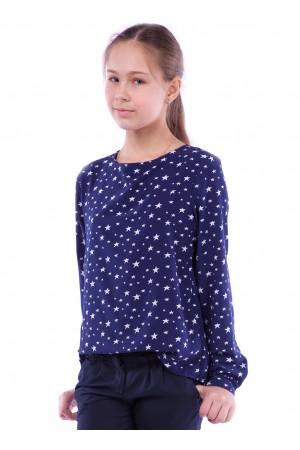 Синя блуза з принтом із зірок