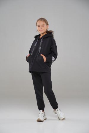 Чорний спортивний костюм для дівчинки
