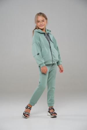 Зелений спортивний костюм для дівчинки