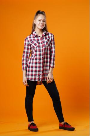 Рубашка с принтом для девочки