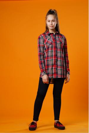 Рубашка с принтом для девочек