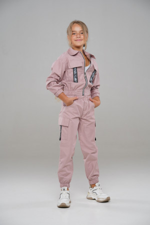 Спортивний костюм на манжетах кремового кольору