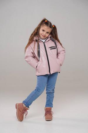 Рожева куртка з еко-шкіри для дівчаток