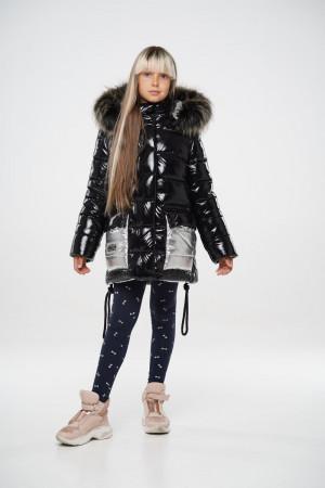 Черная зимняя куртка для девочек подростков