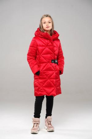 Теплая куртка для девочек красного цвета