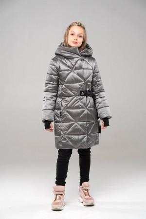 Теплая куртка для девочек оливкового цвета