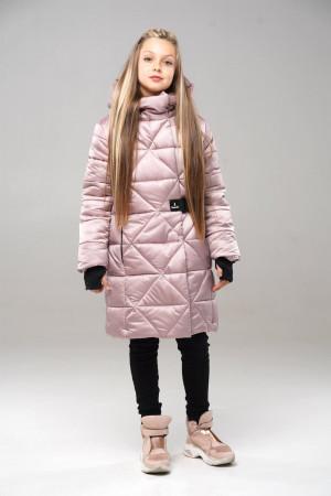 Теплая куртка для девочек цвета пудра