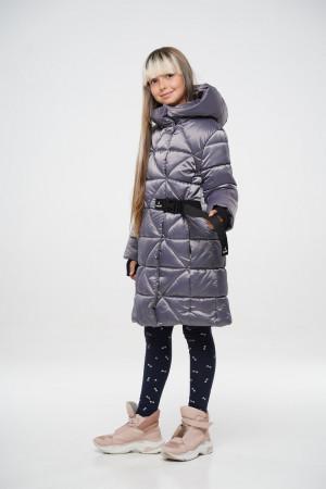 Теплая куртка для девочек серого цвета
