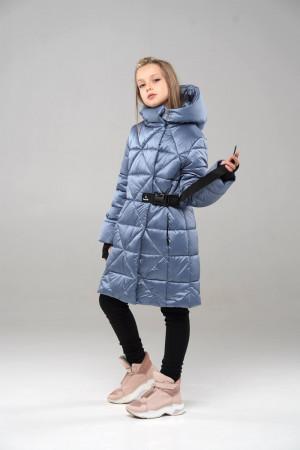 Тепла куртка для дівчаток сірого кольору