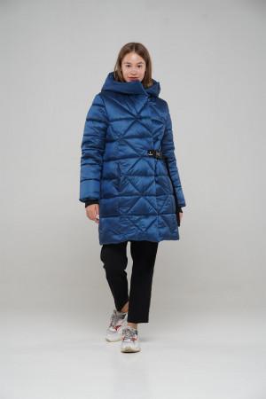 Теплая куртка для девочек синего цвета