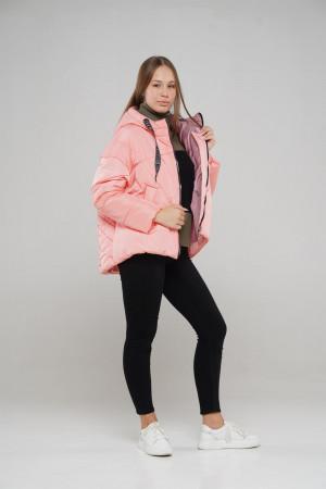 Персиковая зимняя куртка для девочек