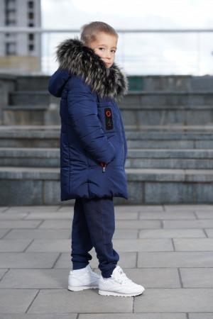 Зимова куртка для хлопчиків синього кольору