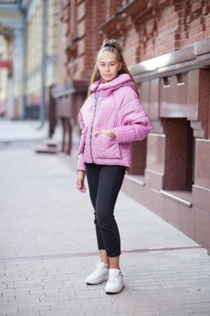 Стильная просторная куртка для девочек цвета орхидея