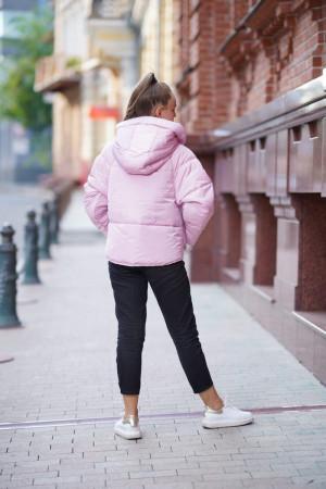 Стильная просторная куртка для девочек розового цвета