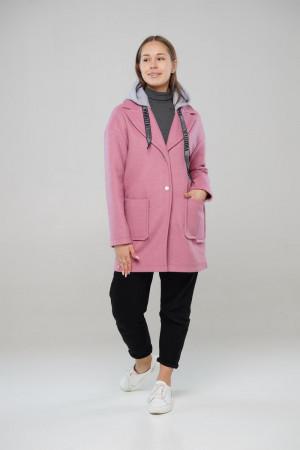 Рожеве демісезонне пальто Ф'южен
