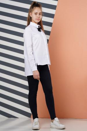 Стильна шкільна біла блузка для дівчаток