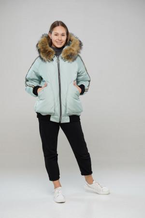 Зимняя куртка цвета фисташка для девочек