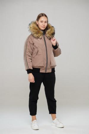 Зимняя куртка кремового цвета для девочек