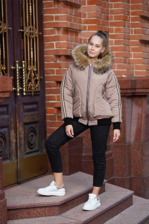 Зимняя куртка цвета капучино для девочек
