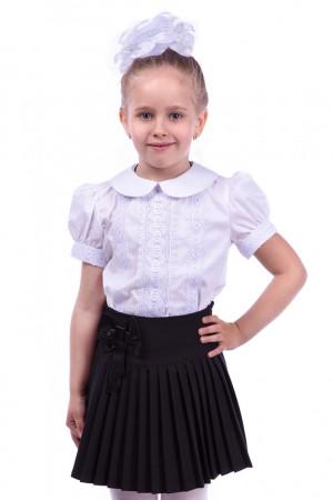 """Шкільна біла блузка з рукавами """"ліхтариками"""""""