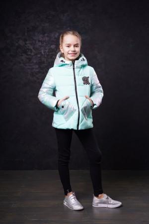 Небесно-мятная демисезонная куртка для девочек