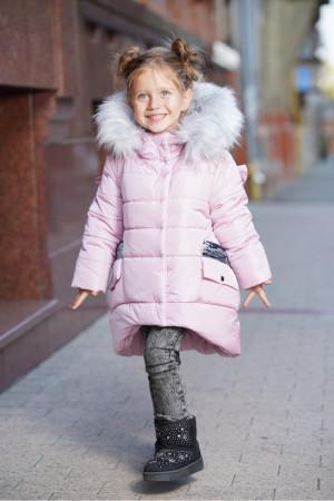Зимняя куртка для маленьких девочек нежно-розового цвета