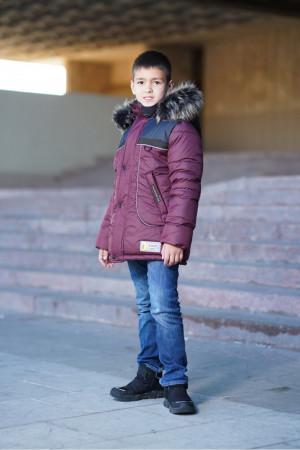 Зимняя куртка для мальчиков с пушистым капюшоном