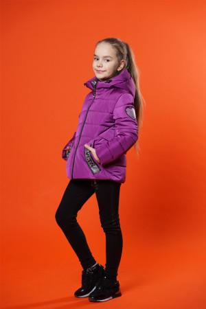 Фиолетовая демисезонная куртка для девочек