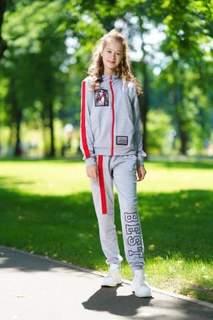 Светло-серый спортивный костюм для девочек