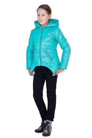 Дутая демисезонная куртка для девочек мятного цвета