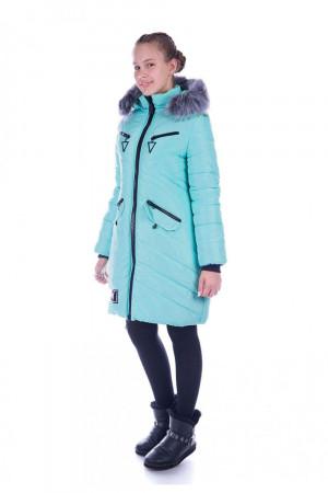 Стильная зимняя куртка для девочек мятного цвета