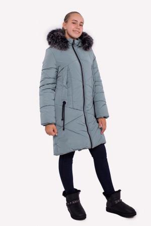 Зимняя куртка для девочек цвета фисташка