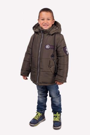 Зимняя куртка цвета хаки для мальчиков