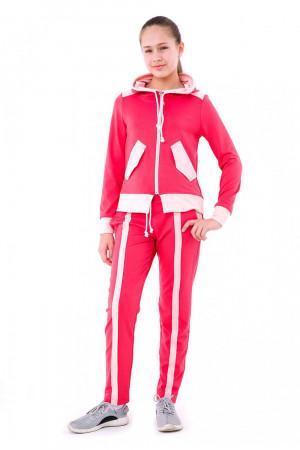 Спортивный костюм для девочек цвета коралл