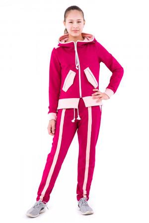 Спортивный костюм малинового цвета для девочек