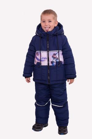 Зимовий комбінезон синього кольору для хлопчиків