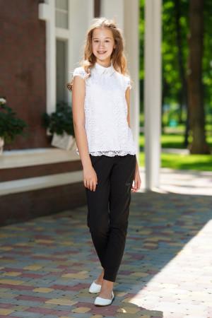 Кружевная белая блузка для девочки
