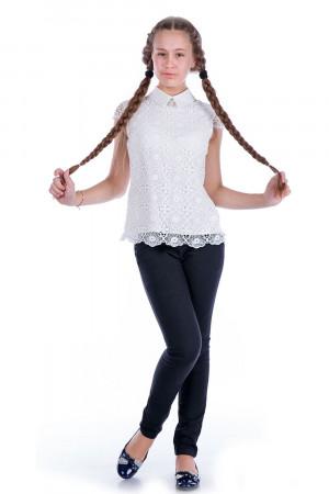 Мереживна блузка для дівчинки кольору молоко
