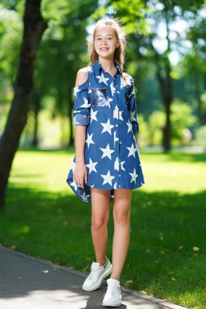 Платье-рубашка с принтом для девочек