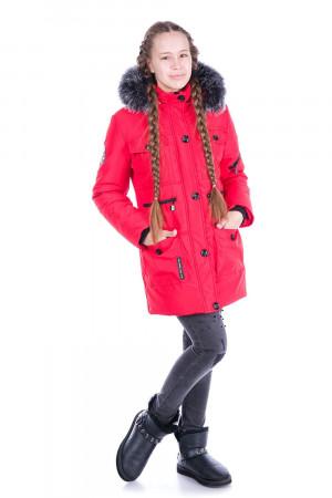 Зимняя куртка для девочек красного цвета