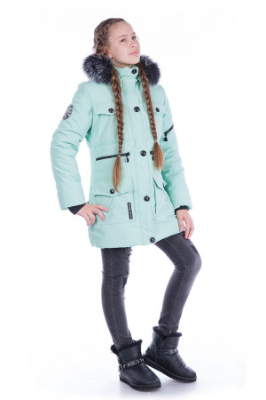 Зимняя куртка для девочек мятного цвета