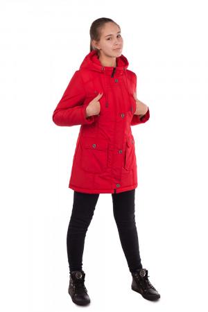 Красная куртка-парка для девочек
