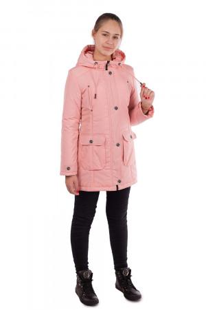 Пудровая куртка-парка для девочек