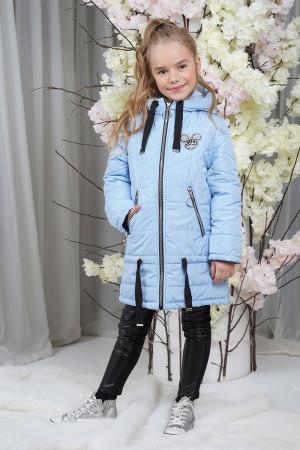 Стильная голубая демисезонная куртка для девочек