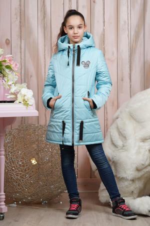 Стильная демисезонная куртка небесного цвета для девочек