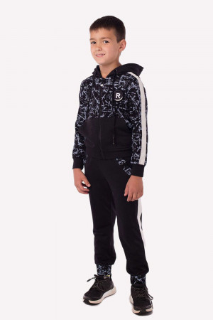 Чорно-сірий спортивний костюм для хлопчиків