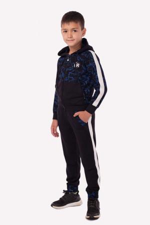 Чорно-синій спортивний костюм для хлопчиків