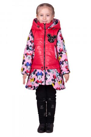 Демисезонная куртка-трансформер розово-ягодная для девочек