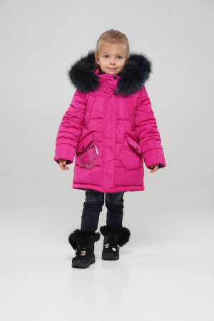 Зимняя куртка цвета фуксия для девочек