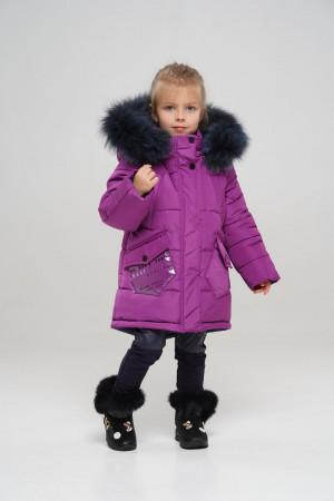 Зимняя куртка цвета ягода для девочек